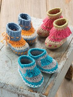ANNIE'S SIGNATURE DESIGNS: Baby Moccasins Crochet Pattern