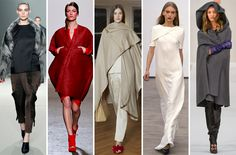 "Fall13 - The Top 10 Trends From the New York Fashion Week Fall Runways.   Theme: The Comfort Club  Charlie Brown's Linus must have made his way onto several inspiration boards for fall 2013, as elevated blanket finishes and folds melded ""cozy"" with ""couture."""