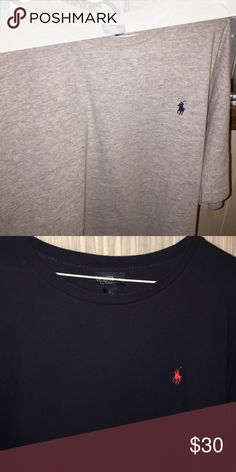 Two Mens XL Polo Ralph Lauren Tee-Shirts Run true to size and in excellent used condition. No stains- or rips, holes, etc.both for 30.00 Polo by Ralph Lauren Shirts Tees - Short Sleeve