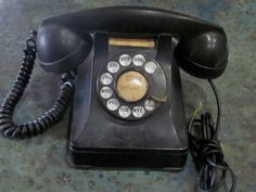 1930's Bakelite Art Deco Black Rotary Dial by LeftoverStuff, $125.00