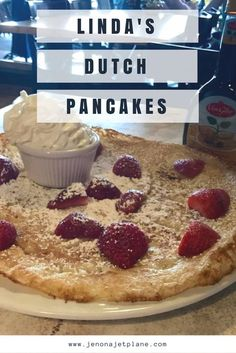 Make sure to eat at Linda's Dutch Pancakes and Pizza in Palm Beach Aruba. The restaurant has the best Dutch Pancakes on the island!