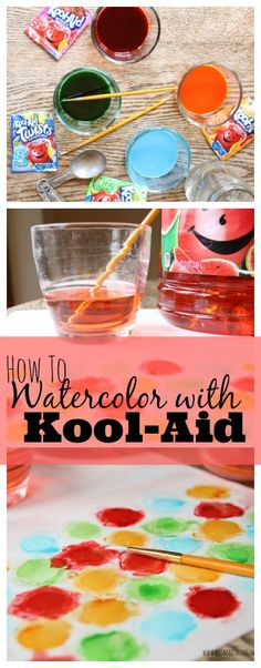 Kool-Aid Watercolor Tutorial