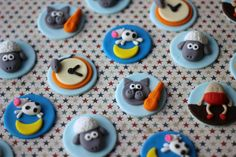 love this. Whimsical Nursery Rhyme Fondant Toppers - Perfect for Cookies, Cupcakes and Other Edible Treats