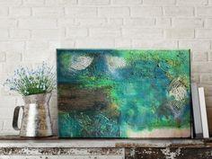 Abstraktes Acryl Gemälde Grün