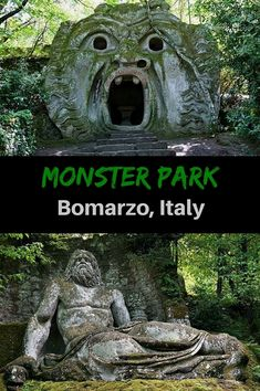 The Park of Monsters, or Sacro Bosco, is filled with massive statues depicting images meant to shock. One of the best things to do in Viterbo, Italy. Click to see more pictures of these odd ancient statues and where to find them. @venturists #ItalyTravel