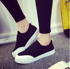 Encontrar Más Moda Mujer Sneakers Información acerca de Zapatos de lona mujer…