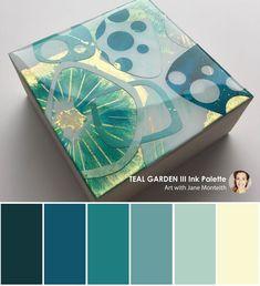MOD Mini colour palette - Teal Garden III #modminis #color #colorpalettes