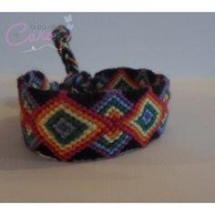 """Bracelet Brésilien """"triangle arc en ciel"""""""