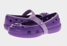 ba193cc612397e Crocs kids keeley petal charm flat toddler little kid neon iris