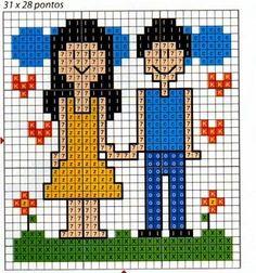 **Blog Amor Perfeito** Gráficos de ponto cruz: Casais