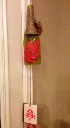 Wine Bottle Wind Chime by HeartNSoulChimes on Etsy