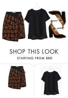 """""""MSGM"""" by cherieaustin on Polyvore featuring MSGM, Madewell, Aquazzura and madewell"""