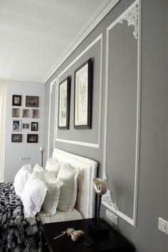 Dekorative Maltechniken Schwammtechnik Blau Metall Farbe | Office ... Graue Wandfarbe Wohnzimmer