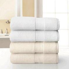 """Grand Patrician Suites White Bath Towel 30"""" x 56"""" Pkg of 12 @ elitespaproducts.com"""