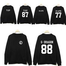 K pop Bigbang kpop vêtements GD périphériques col rond Coréen couple lâche sweat exo kpop hoodiebig bang kpop nouvelles(China)