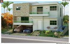 Planta de Sobrado - 3 Quartos - 292.19m² - Monte Sua Casa