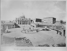 1929 Rome Plaza St. Peter's the Vatican Historic Photo