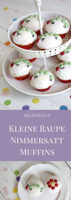Kleine Raupe Nimmersatt Muffins sind ein kreativer Geburtstagskuchen. Die Basis der Kleine Raupe Nimmersatt Cupcakes sind Zitronenmuffins. Der kleine Raupe Nimmersatt Kuchen ist die perfekte Idee für eine Kleine Raupe Nimmersatt Themenparty.
