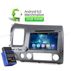 """Price - $384.00. 8""""HD Android 2GB Car DVD CD Player Head Unit GPS BT Navi WIFI For Honda Civic R ( Brand - Eonon, MPN - Does not apply, Screen Size - 8"""" High Definition Digital Capacitive Touch Screen, Operation System - Android Marshmallow 6.0, Resolution - 1024*600, Steering Wheel Control - Support, WIFI/3G - Support(3G need to buy dongle extra), CPU - T3, Quad-core, A7 frequency 1.6GHz, 2GB RAM, 16GB, Supports app installation - Yes, Bluetooth - Support hands free,MP3…"""