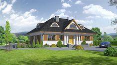 projekt Chmielniki średnie KRP1124 Home Fashion, Mansions, House Styles, Home Decor, Itu, Case, Living Room, Projects, Decoration Home