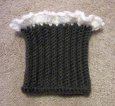 Lacy Boot Cuff Crochet Pattern Boot Sock Crochet by SiennaSews