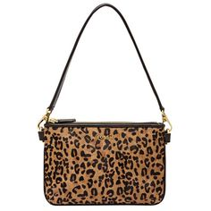 NWOT Fossil Cheetah   Leopard Calf Hair Purse NEW WITHOUT TAGS Fossil Cheetah   Leopard Calf Hair Purse. Genuine leather.  This leather is butter soft!  Can be worn as a clutch, shoulder bag or wristlet. Detachable strap. Two separate zipper compartments. Last photo with mannequin is just for size reference. Fossil Bags Shoulder Bags