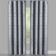 One of my favorite discoveries at ChristmasTreeShops.com: Gray Solstice™ Damask Blackout Window Curtains, Set of 2