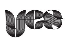 Yes font on Behance
