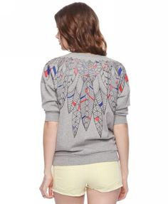 colored leaves pullover