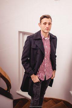 męski płaszcz #vintagecoat