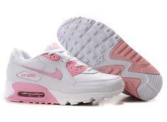 new style 06963 ae8c9 Hot Ny Nike Air Max 90 Kvinne Sko Rosa Hvit og New New Air Max Shoes