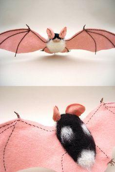 AMAZING felt bat-  felting by creturfetur!