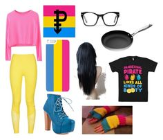 """Pan Pride Outfit"" by marceline-the-vampire-bean ❤ liked on Polyvore featuring art"