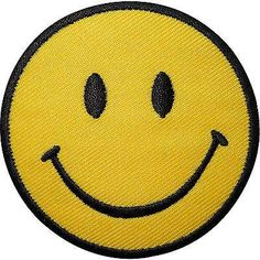 Smiley Face Embroidered Iron On Transfer Sew On Patch Clothes Bag T Shirt Badge Size 6.5 cm Diameter. How to Iron on a Patch Lay your cloth on a flat, heat-resi
