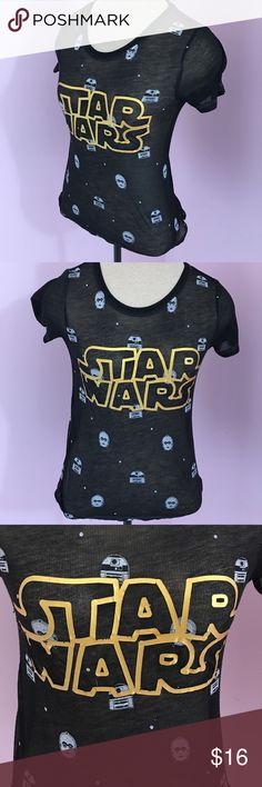 Star Wars fitted sheer Tee size 6x/6 Star Wars sheer Fitted Tee size 6/6X condition preloved good overall. Offers welcome and all purchases receive free gift 🎁! It's a child's tee but fits a extra small in women's. Star Wars Shirts & Tops Tees - Short Sleeve