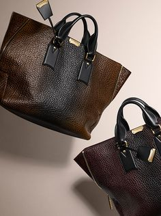 Dégradé-effect leather tote bags – new from Burberry for Autumn/Winter 2014