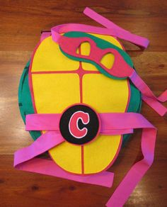 """Why can't girls be Teenage Mutant Ninja Turles too?!!!! Well now they can with this """"Pink"""" TMNT shell. Your little girl will love this TMNT"""