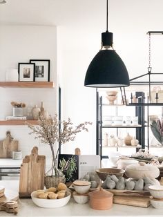 Wood Vase, Wood Bowls, Wood Cutting Boards, Shop Interiors, Store Design, Kitchen Decor, Ceiling Lights, House, Cooking