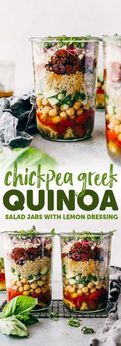 Greek Quinoa Salad Jars
