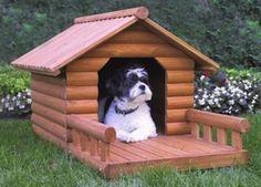 Rustic log cabin #dog #house