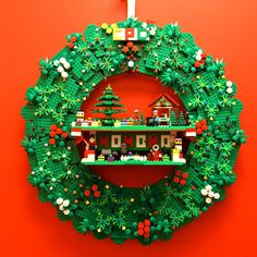 This week we're celebrating the power of lego. Lego has brought some… Lego Disney, Lego Duplo, Lego Christmas Village, Lego Winter Village, Lego Design, Manual Lego, Christmas Wreaths, Christmas Crafts, Christmas Music