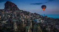 Hot air Balloon over Cappadocia, Turkey