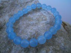 """Achat - Achat Armband """"neon-blau"""" 8 mm - ein Designerstück von star-schmuck bei DaWanda"""