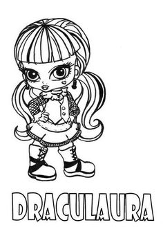 Monster High Baby Coloring Pages Images from Cartoon Coloring Pages category. Find out more awesome pictures to color for your kids Monster Coloring Pages, Coloring Pages For Girls, Cartoon Coloring Pages, Coloring Pages To Print, Coloring Book Pages, Printable Coloring Pages, Coloring For Kids, Coloring Sheets, Monster High 13 Wünsche