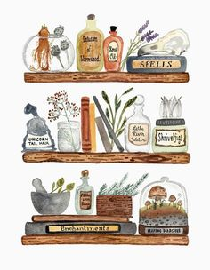 Little Truths Studio - Book Lover Art - Potions and Spells