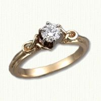 Celtic Bethany Engagement Ring -Shown in 14kt Yellow Gold