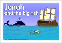 Jonah and the Big Fish visual aids (SB787) - SparkleBox