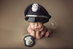 This would be so amazing to do with our baby since my husband's a cop <3 to cute!