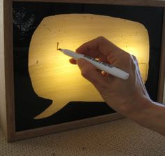 Write Your Own Sign White Board with Wooden Lightbox  / Illuminated Sign…
