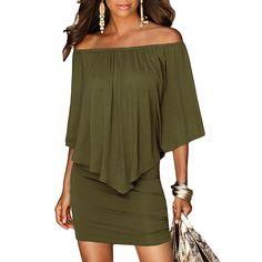 78e3f74508 Hot Dresses Brand Liooil Mini Dress 2018 Summer Style Price: 17.99 &  FREE Shipping